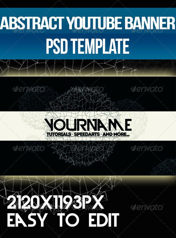 Abstract - YouTube One Channel Design Banner Banner template