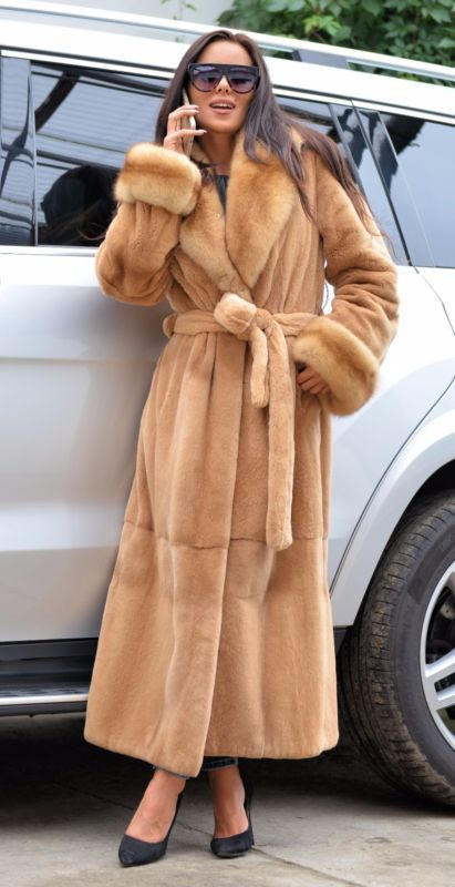 New 2017 plucked royal mink russian sable fur trench coat clas of ...