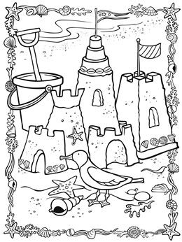 znalezione obrazy dla zapytania seaside line drawing