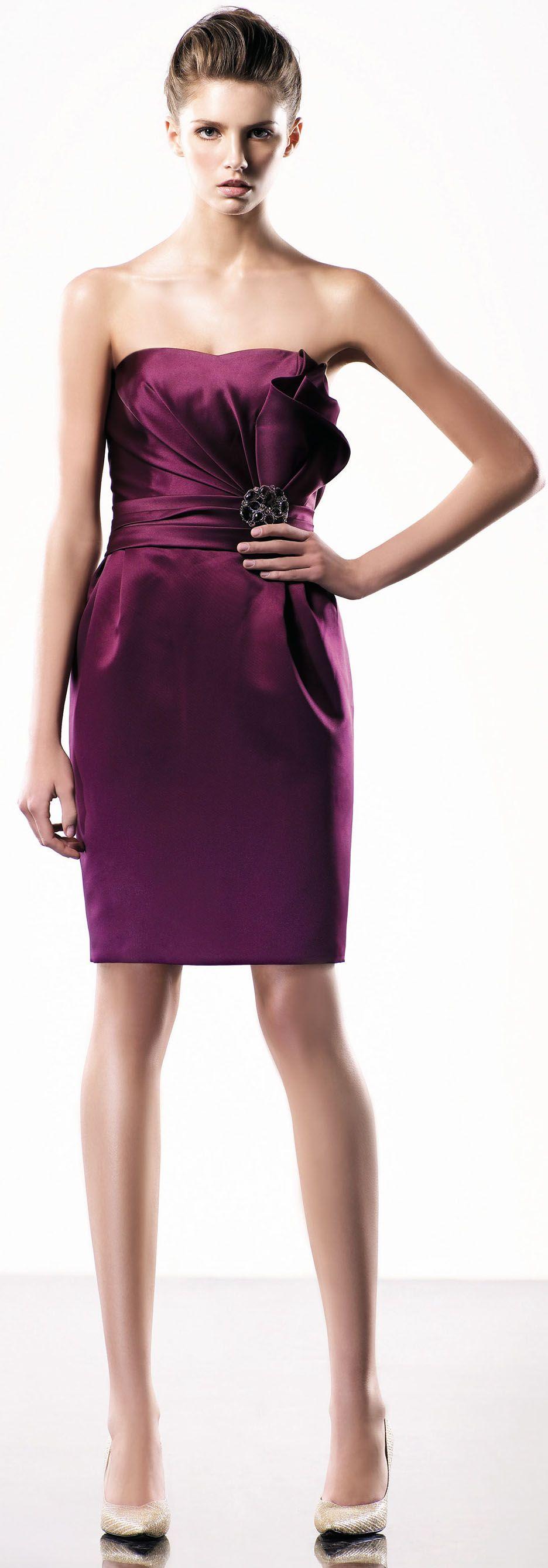 Elegant Satin A-line Knee-length dress