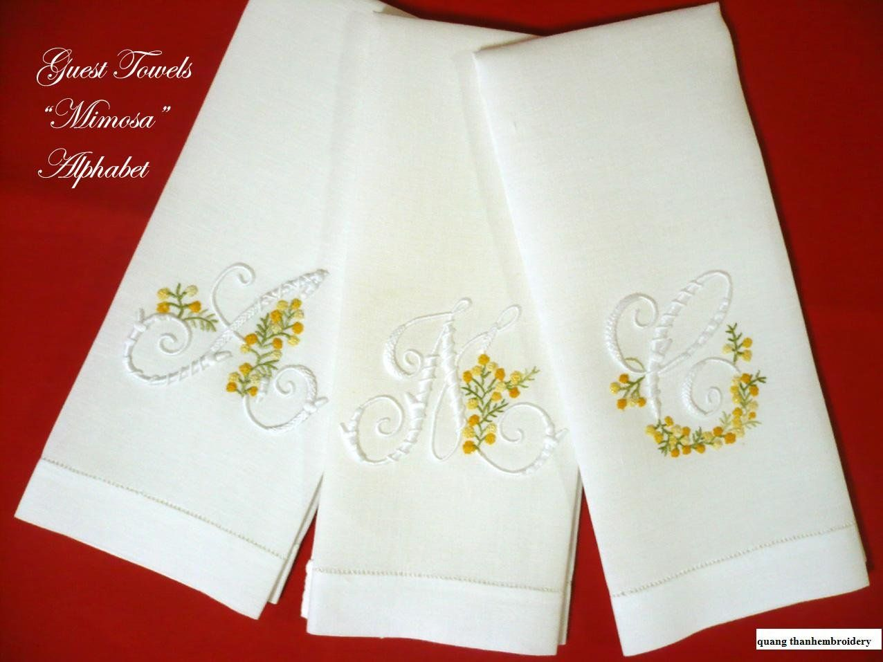 Embroidery victorian dish towels | Embroidery.com: Hand Towels ...