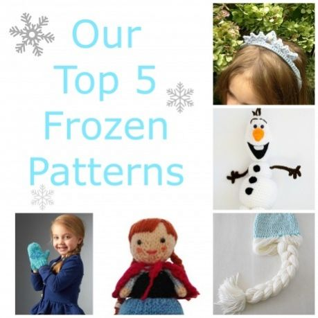 Our top 5 Frozen-inspired patterns - find them over on the Let's Knit blog!
