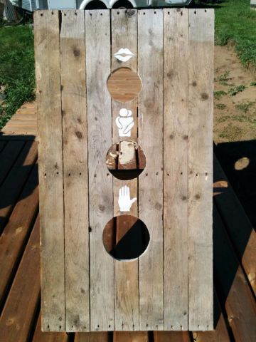 Handmade Rustic Bean Bag Toss Kissing Game