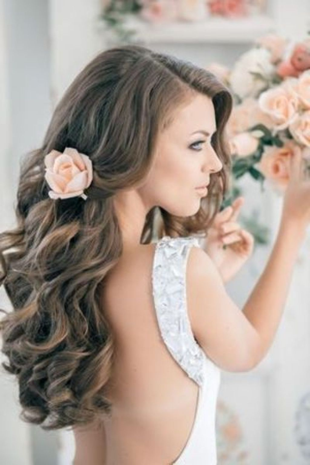 Hairstyle For Backless Dresses Ball Hairstyles Pinterest Wedding Dresses And Hairstyles Long Hair Wedding Styles Wavy Wedding Hair Long Hair Styles