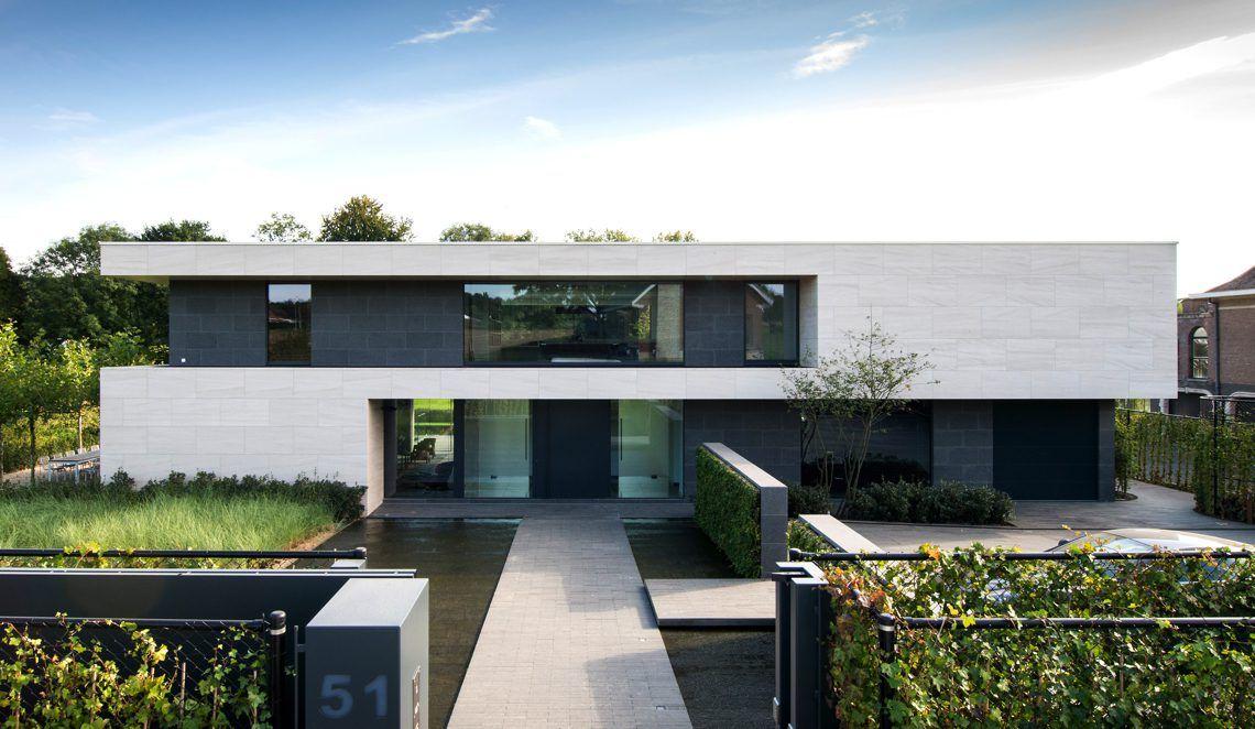 Schellen architecten moderne villa dilbeek hoog for Moderne architektur wohnhaus