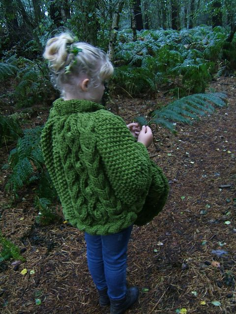 """""""Forest"""" Child/Adult Poncho pattern by Lorraine Hearn ..."""