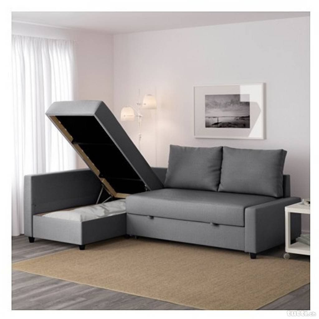 3-Seat Sleeper Sectional | Corner sofa bed with storage ...