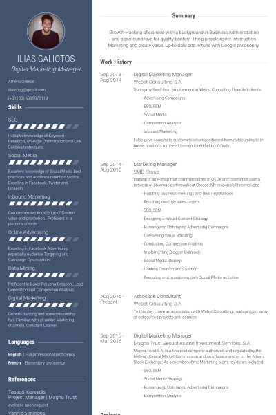 Sample Resume For Digital Marketing Executive