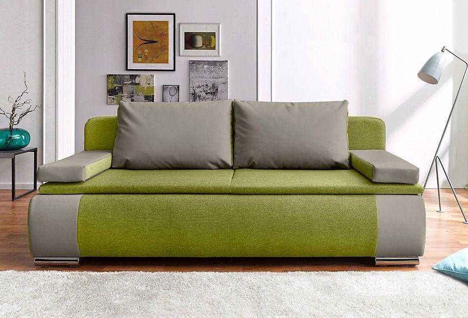 Schlafsofa im modernen Materialmix Jetzt bestellen unter   - moderne wohnzimmer couch