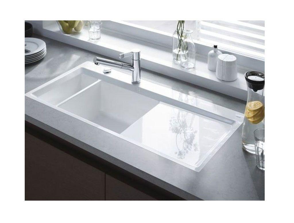 Lavello Cucina A Incasso.Lavello Cucina Ad Incasso In Ceramica Bianco Duravit Kiora