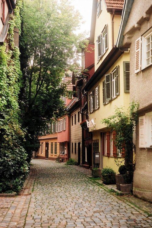 Cobblestone Street, Baden-Wurttemberg, Germany