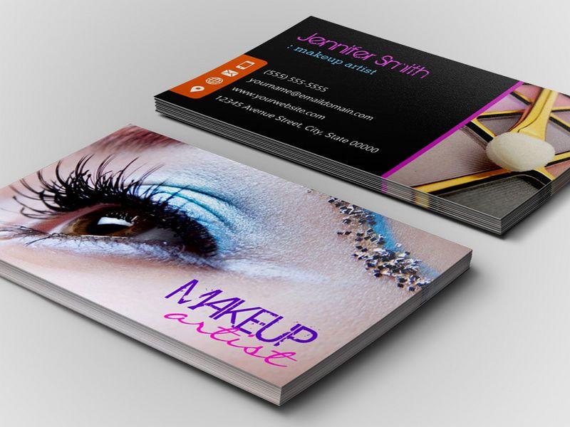 Stylish eye shadow makeup artist business card makeup artist customizable stylish eye shadow makeup artist business card template friedricerecipe Gallery
