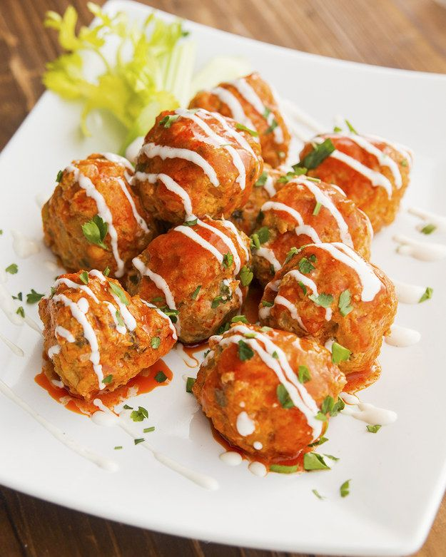 Slow Cooker Buffalo Chicken Meatballs | These Slow Cooker Buffalo Chicken Meatballs Are Absolutely Incredible