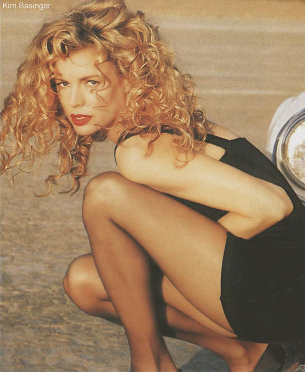 Kim Basinger Nude Wearing Nylons And Heels