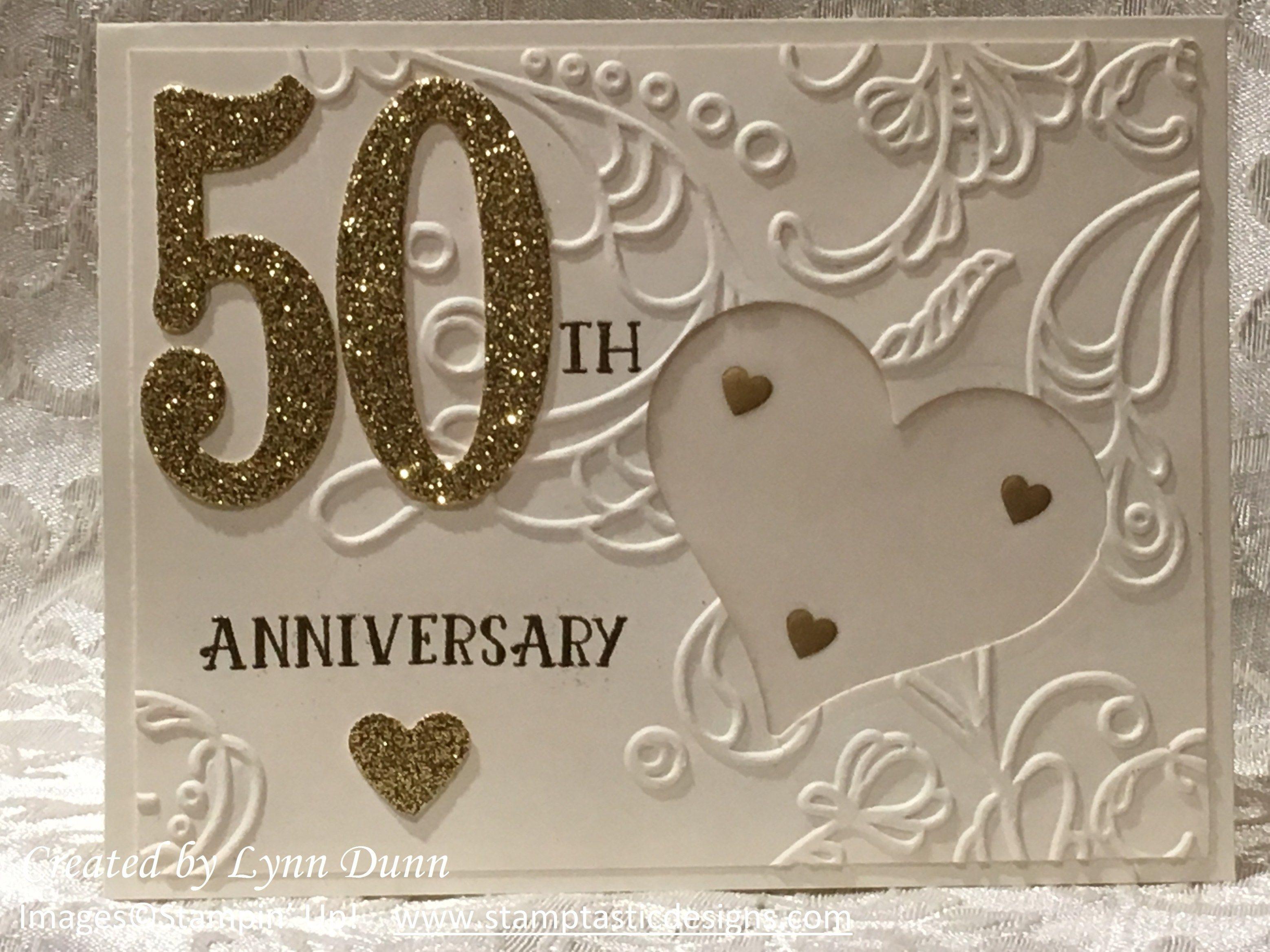 50th anniversary cards  lynn dunn  50th anniversary