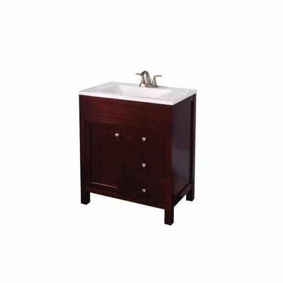 St. Paul Wyoming 30 Inch W Vanity In Hazelnut Finish With Wood Top In  Alpine | The Home Depot Canada
