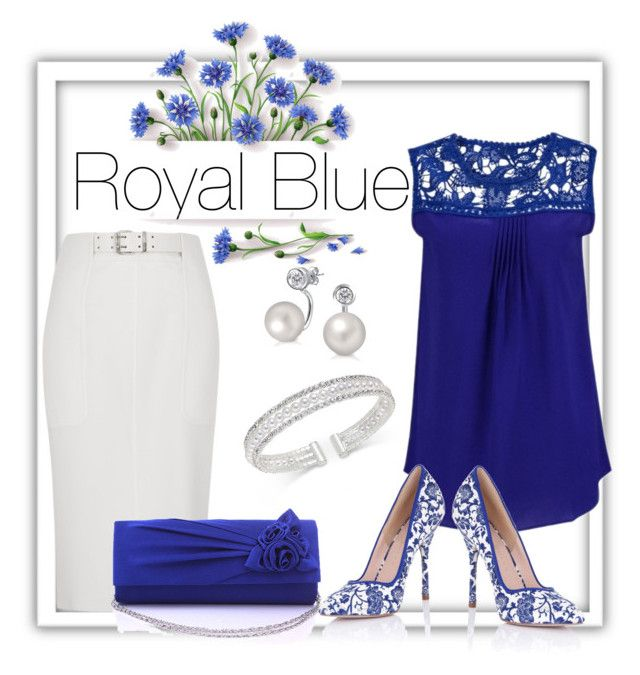 """Royal blue, bright whites!"" by pjnemchin on Polyvore featuring River Island, INC International Concepts, Paper Dolls and Bling Jewelry"