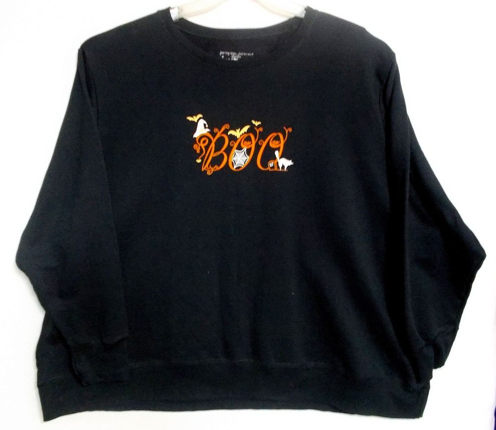 halloween sweatshirt womens plus size