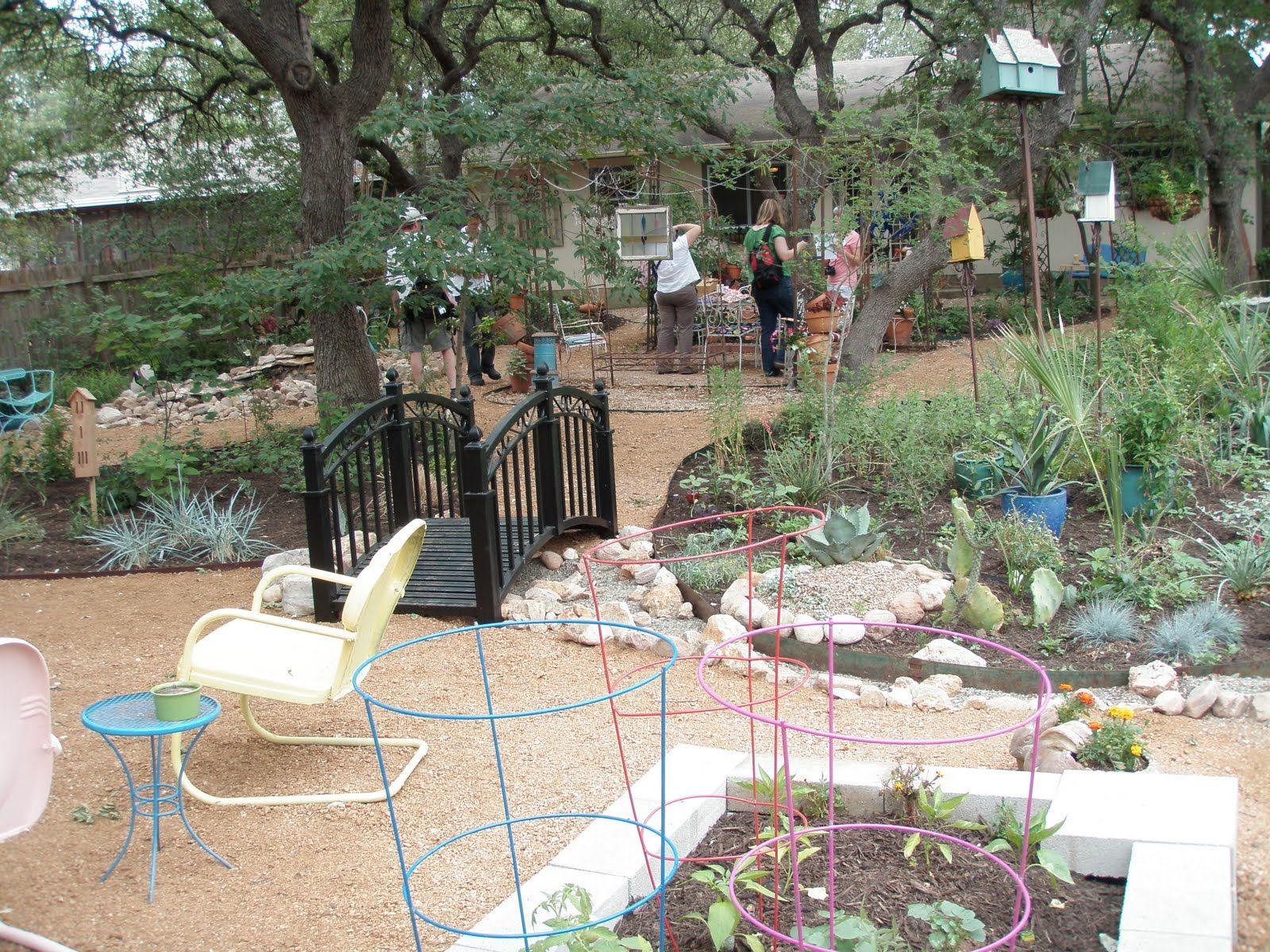 I like this for a backyard redo. No grass! | Backyard ...