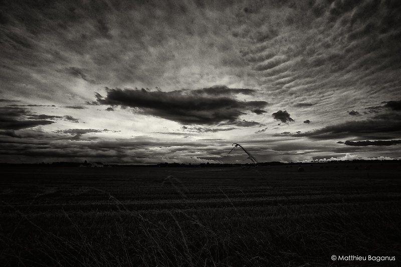 ciel orageux dans la campagne de l'agglomeration messine