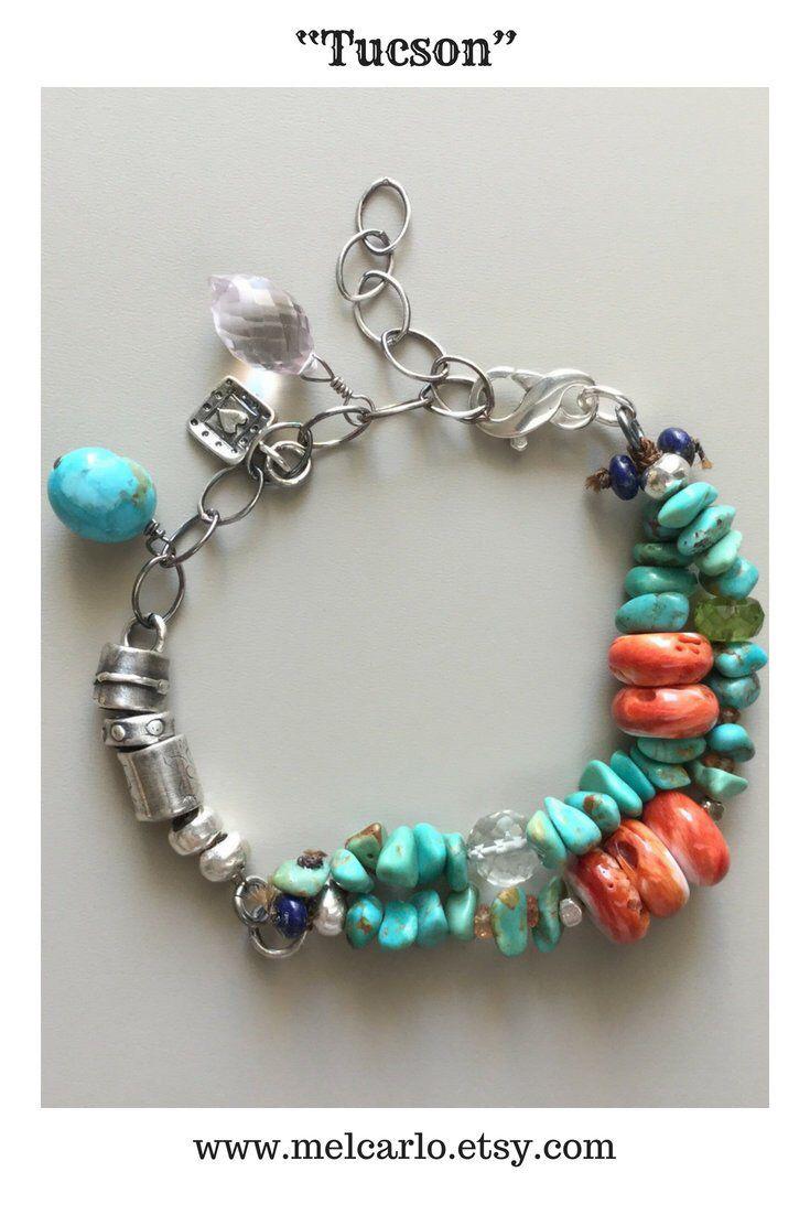 Handmade turquoise bead jewelry sundance style turquoise and spiny