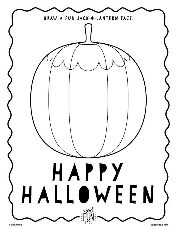 Halloween Themed Free Printable Coloring Page Halloween games and - halloween decoration printables