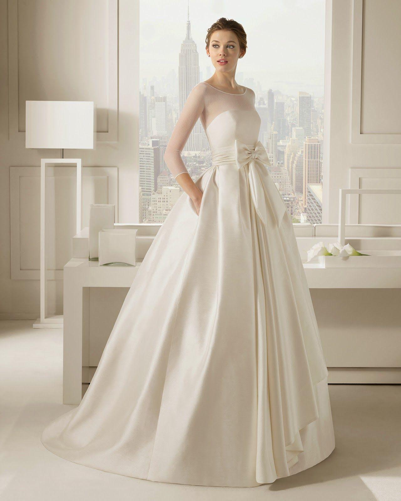 10 vestidos de novia de manga larga: ¡elegantes y con clase ...