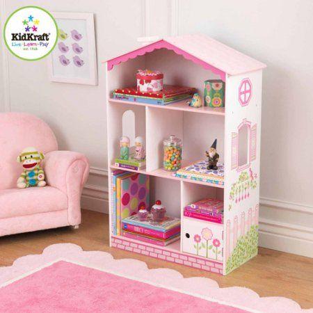 KidKraft Dollhouse Cottage Bookcase, Pink