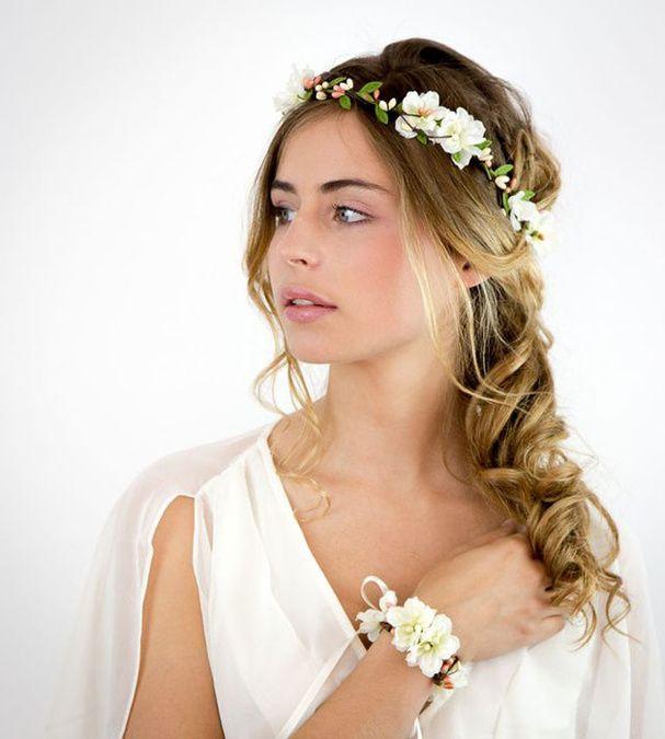Headband Fleurs Couronnes De Fleurs De Mariee Coiffures Couronne Couronne De Fleurs Mariage