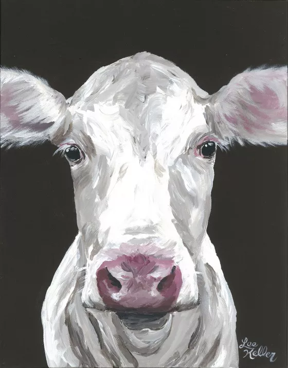 Lee Keller Paintings For Sale Artfinder Cow Art Print Cow Art Cow Painting