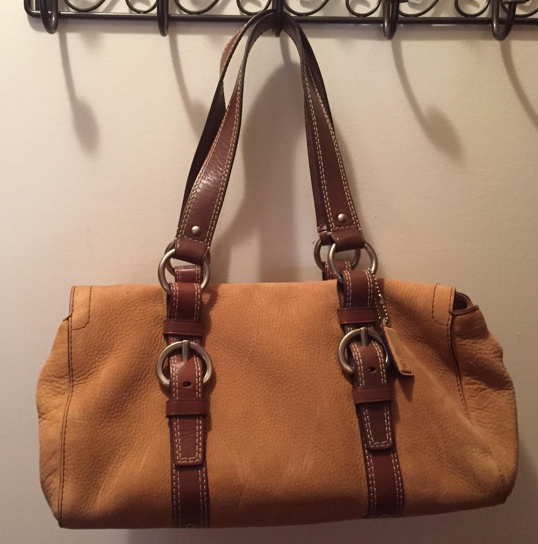 Coach F10895 Camel Satchel. Save 72% on the Coach F10895 Camel Satchel!  This satchel is a top 10 member favorite on Tradesy. See how much you can  save 8be3ae236117c