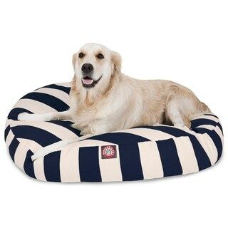Groovy Majestic Pet Outdoor Indoor Vertical Stripe Round Dog Bed Squirreltailoven Fun Painted Chair Ideas Images Squirreltailovenorg