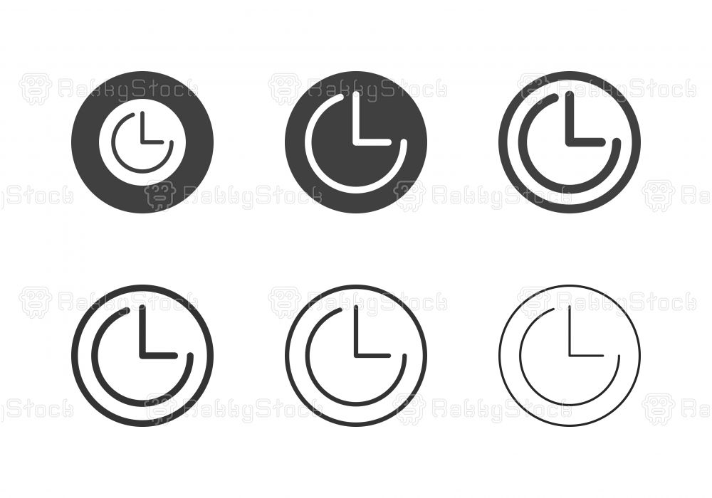 Timer Icons Multi Series Vector Eps File