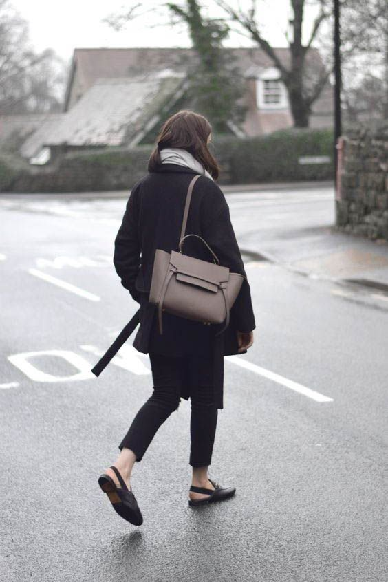 Celine Belt Bag street style outfit  Designer work bag  street style fashion  work tote bag Pinterest fromluxewithlove