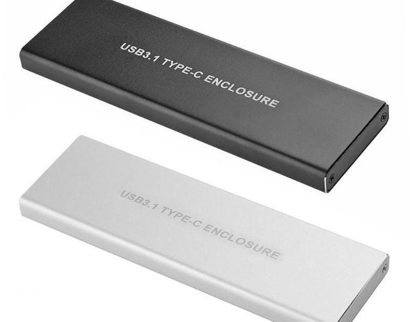 M2 NVMe  enclosure box USB 3.1 type C to M key NGFF for intel ssd portable case