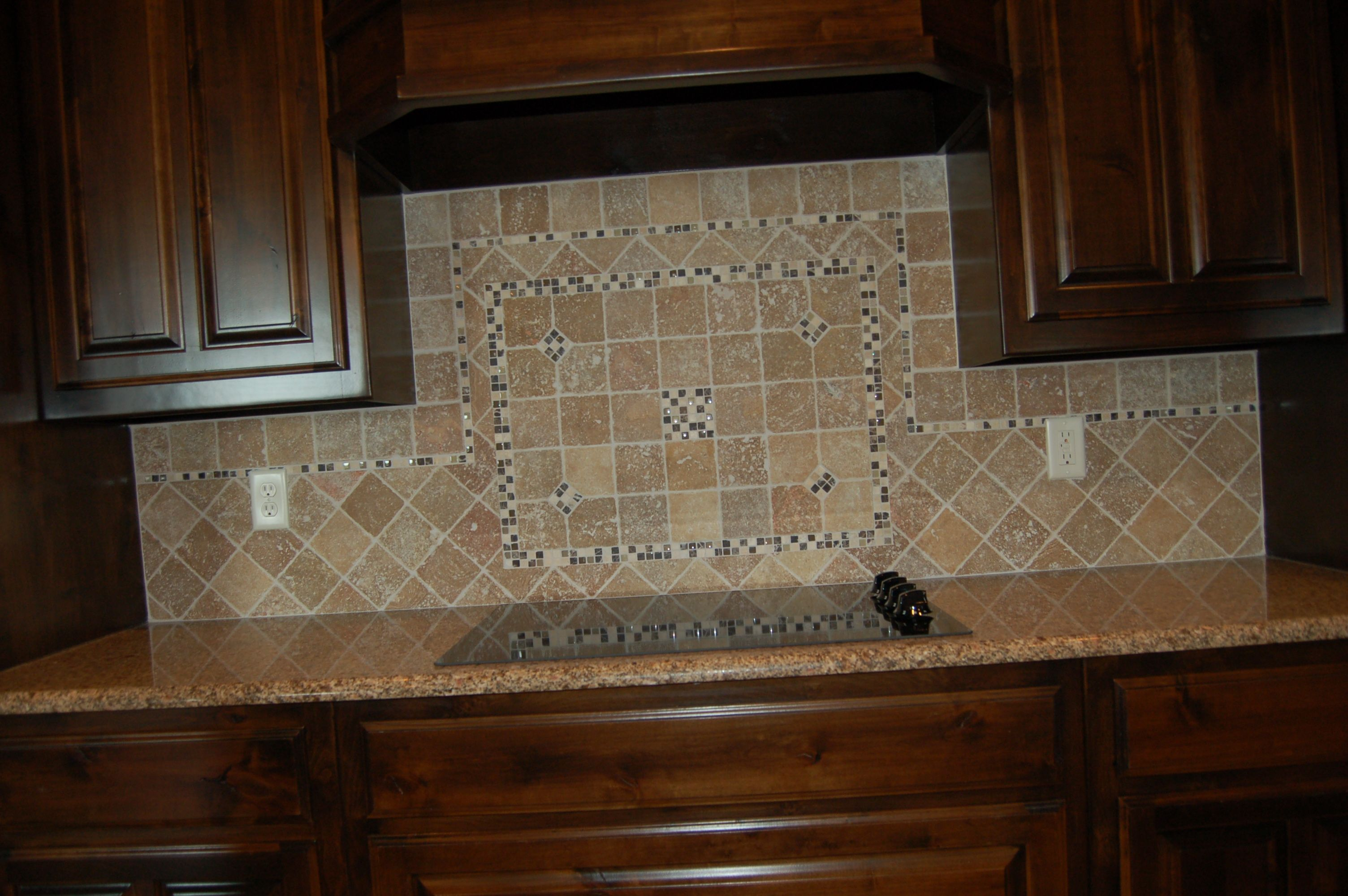 Tumbled Marble Tile Backsplash Mcbee Homes Kitchens Pinterest