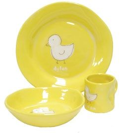 The Alex Marshall Studios Ceramic Childrens Collection Of Gifts And Baby Dish Sets Are Made From A White Earthenwar Baby Dish Sets Ceramic Dish Set Baby Dishes