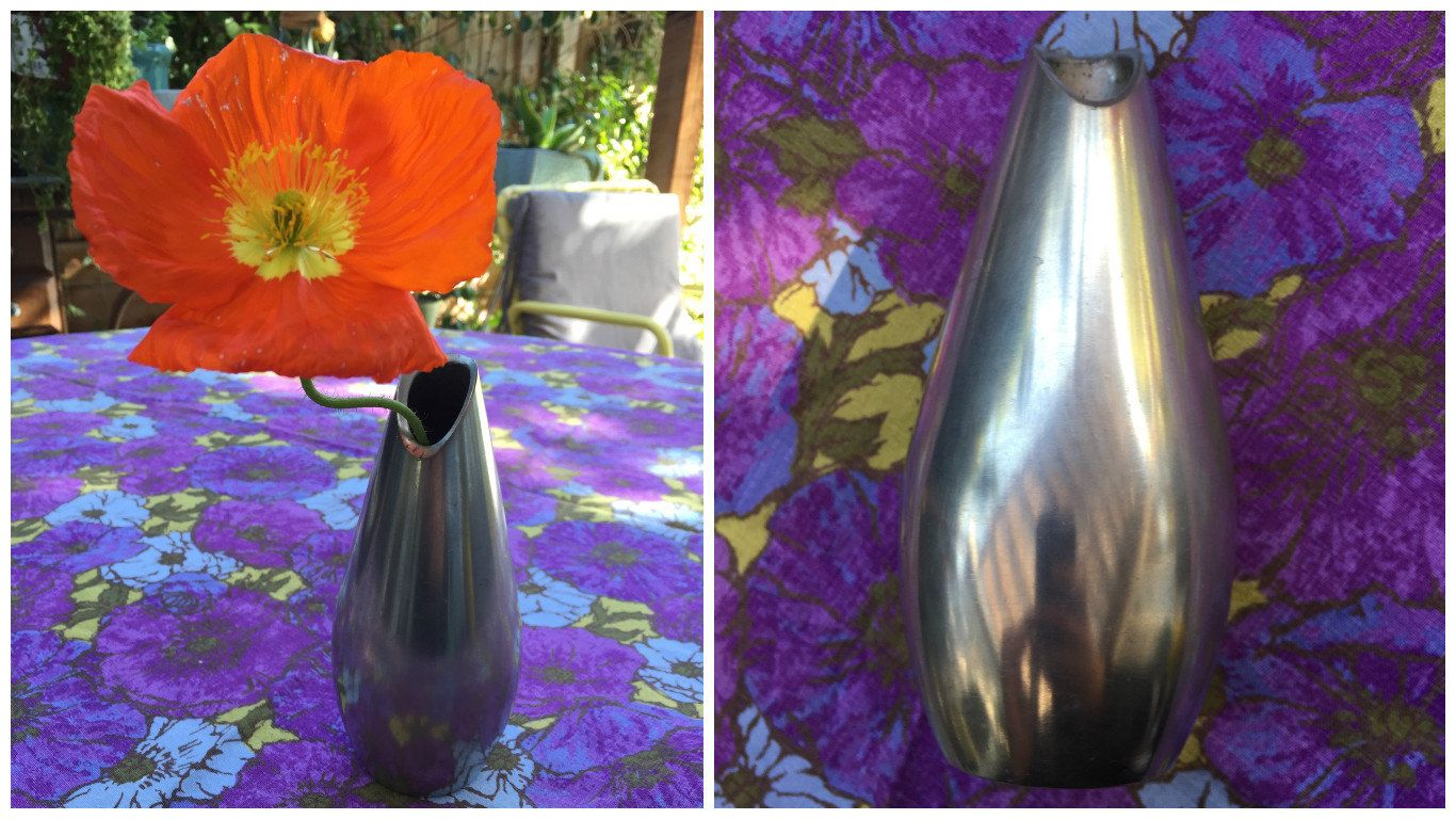 60's Dutch Mid Century Silver Vase Royal Holland Pewter Dallderop - Made in Holland by ElkHugsVintage on Etsy