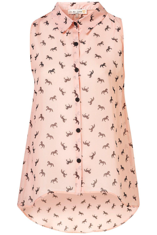 Topshop horse print shirt | The Sartorialist | Pinterest | Blusas de ...
