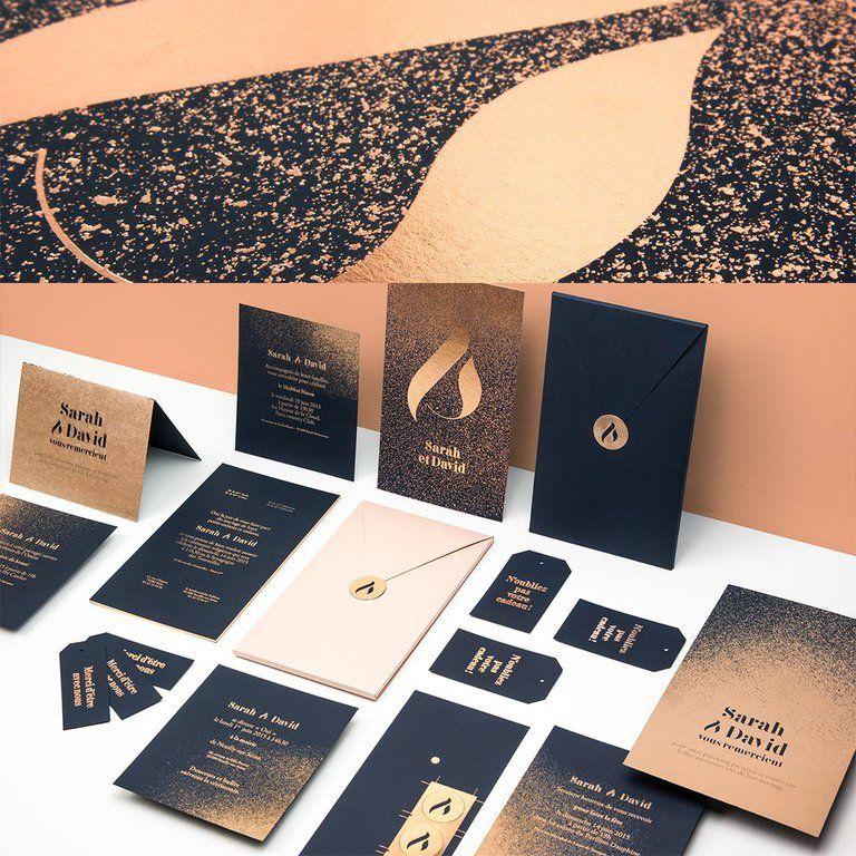 887 Mentions J Aime 9 Commentaires Design Branding Branding Design Sur Instagram Set De Faire Part De Mariage Imprimerie Du Marais Design By Folso