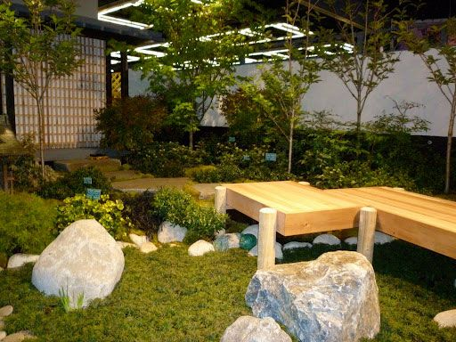 Awesome Rock Garden Ideas For Japanese Design : Large Space Japanese Rock Garden