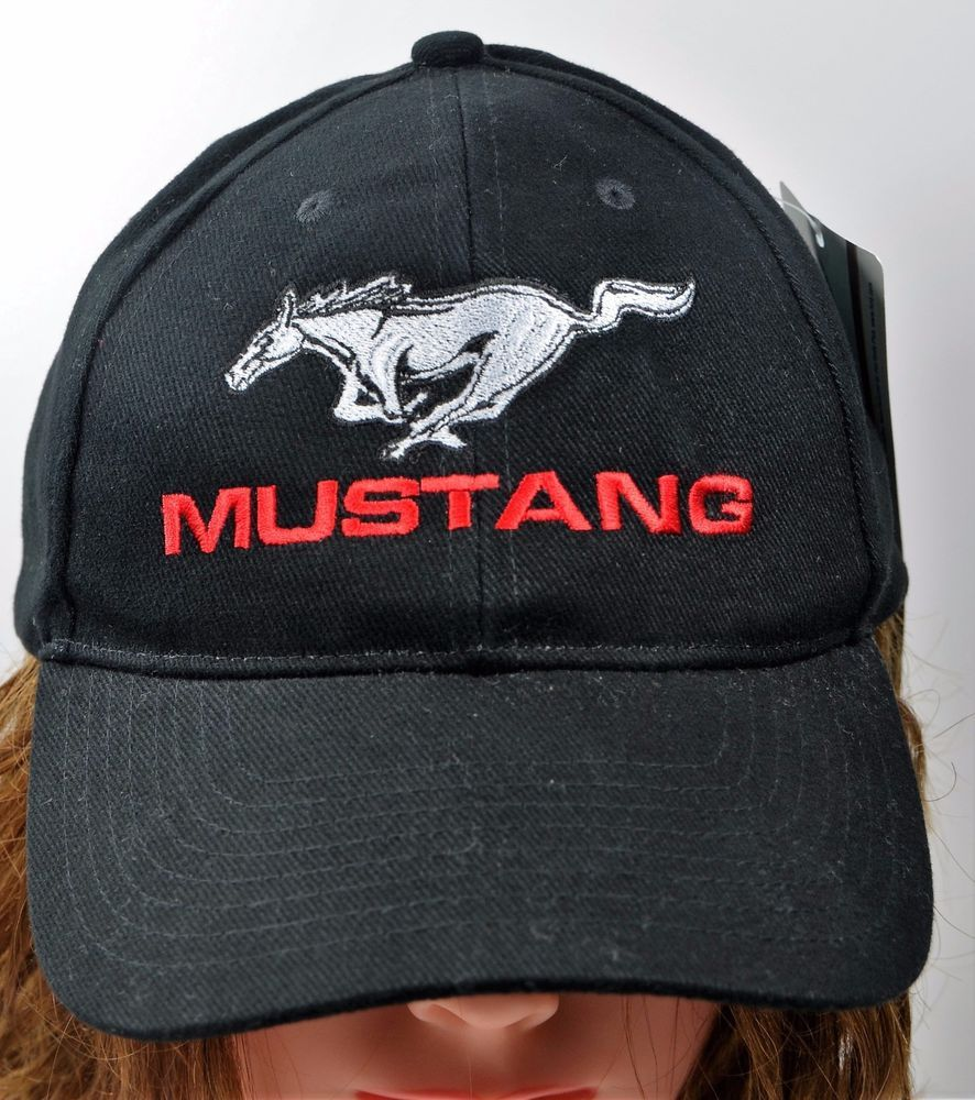 1821e9c93186a Ford Mustang Black Hat NWT Adjustable Cap  Ford  BallCap