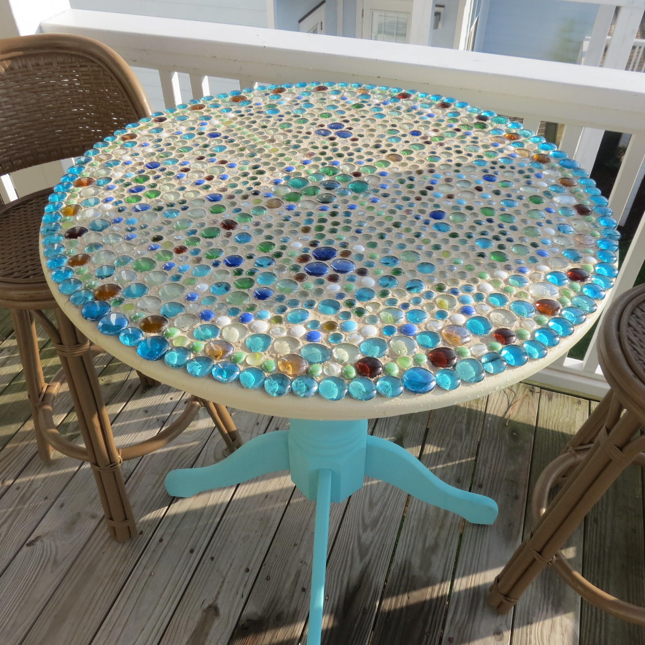 Outdoor table top ideas - Mosaic Patio Table