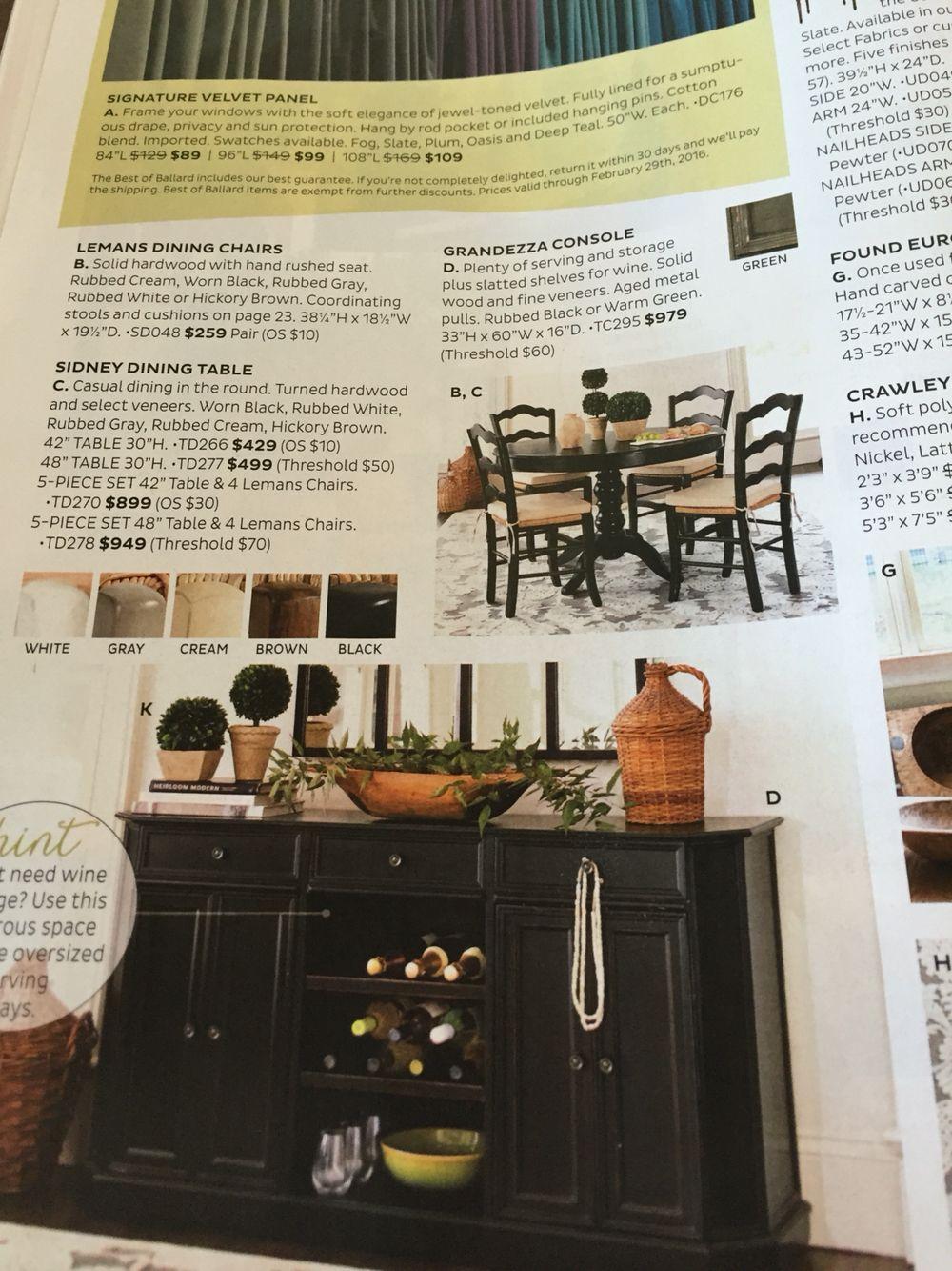 From Ballard Designs For Kitchen Nook 60 Wide  Mirarosa Drive Inspiration 15 X 20 Kitchen Design Decorating Inspiration