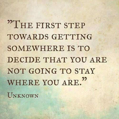 The first step! Infinite Possibilities Empowerment Coaching www.ipcoaching.net
