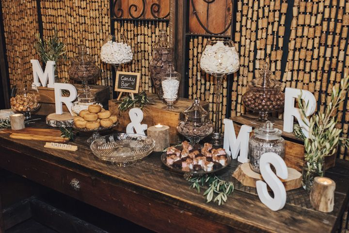Wedding Dessert table display | itakeyou.co.uk #wedding #rustic #rusticwedding #barnwedding #vineyardwedding #realwedding #weddingphotos