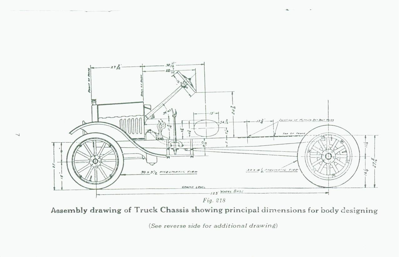 model t ford forum: looking for 1926/27 sideview drawing with measurements