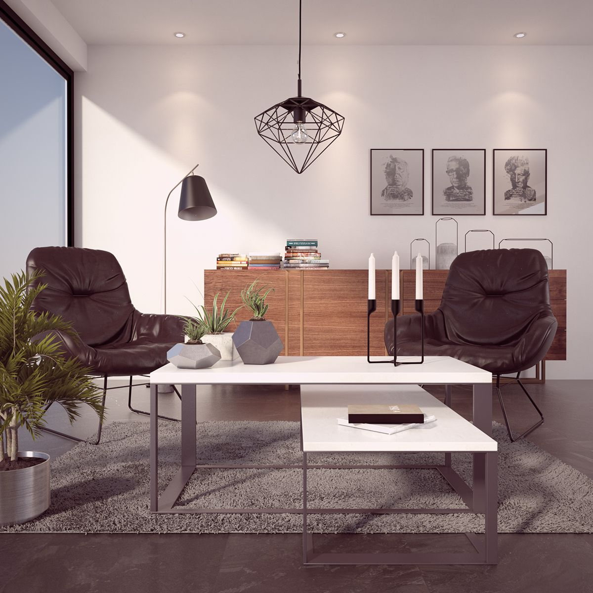 Free 3d model interior vray 3ds max on behance interier for 3ds max design