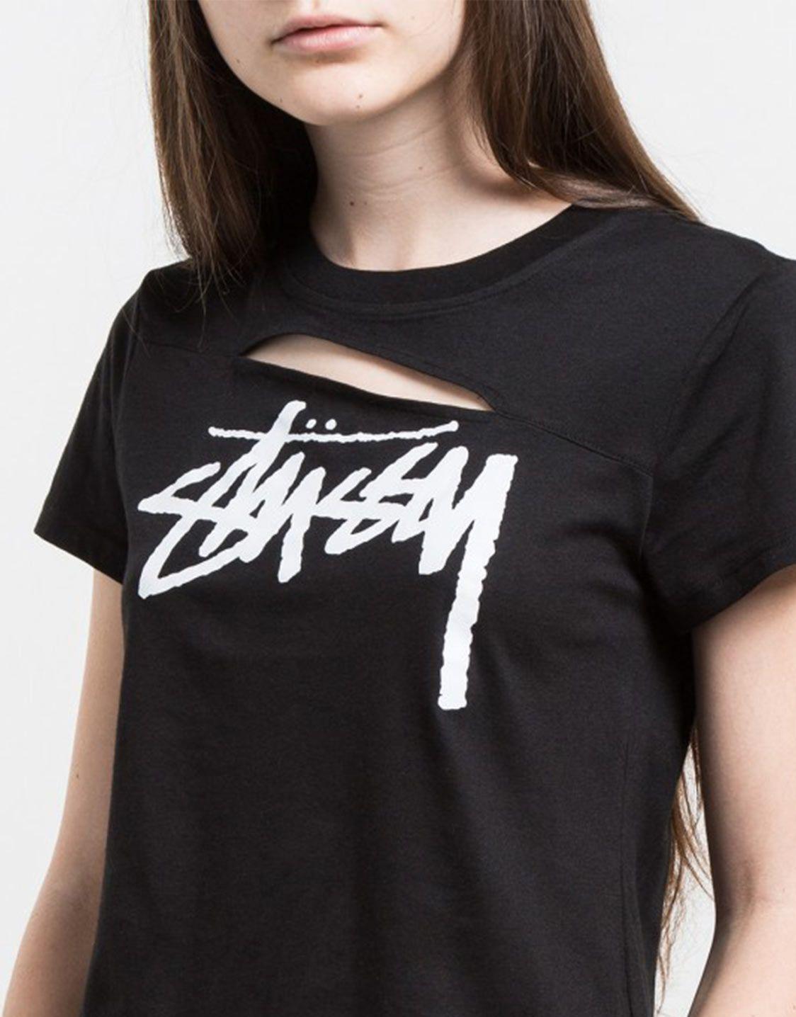 stussy women slash tshirt stussy stussy women