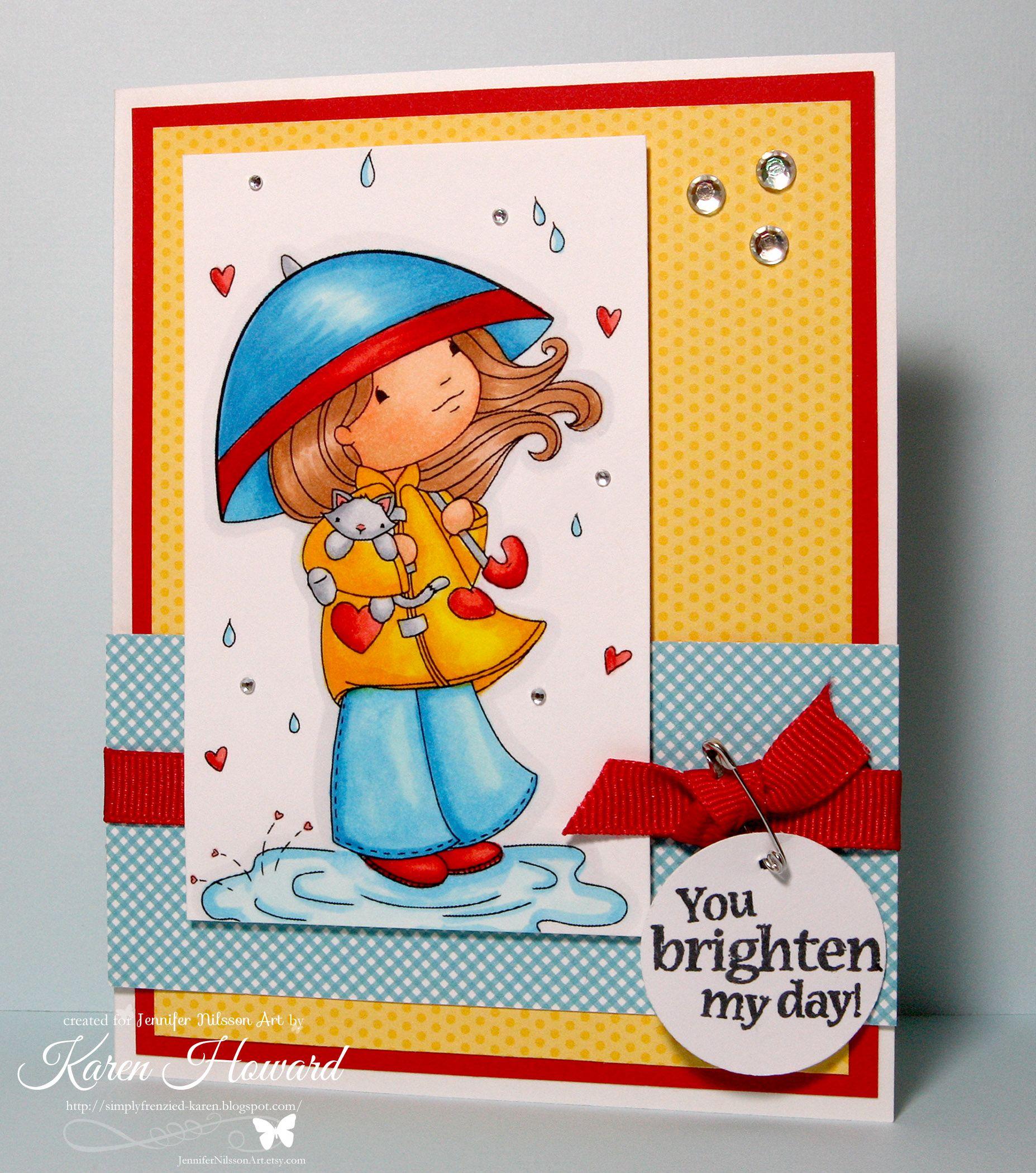 Drops of Love - Jennifer Nilsson Art on card sample designed by Karen www.simplyfrenzied-karen.blogspot.com